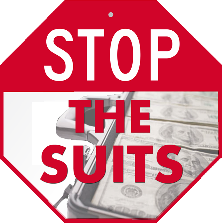 Stop the suits logo