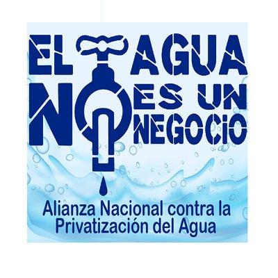 logo alianza contra la privatizacion del agua